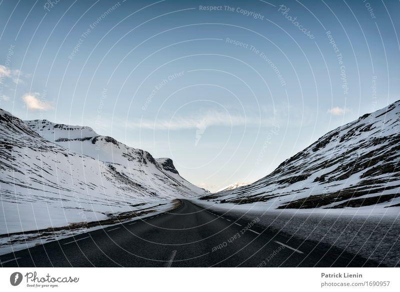 Highlands Himmel Natur Ferien & Urlaub & Reisen Landschaft Winter Berge u. Gebirge Straße Umwelt Leben Wege & Pfade Schnee Erde Verkehr Schneefall Wetter