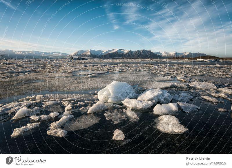 Eisland schön Leben Ferien & Urlaub & Reisen Tourismus Ausflug Abenteuer Freiheit Sonne Insel Winter Schnee Berge u. Gebirge Umwelt Natur Landschaft Erde Himmel