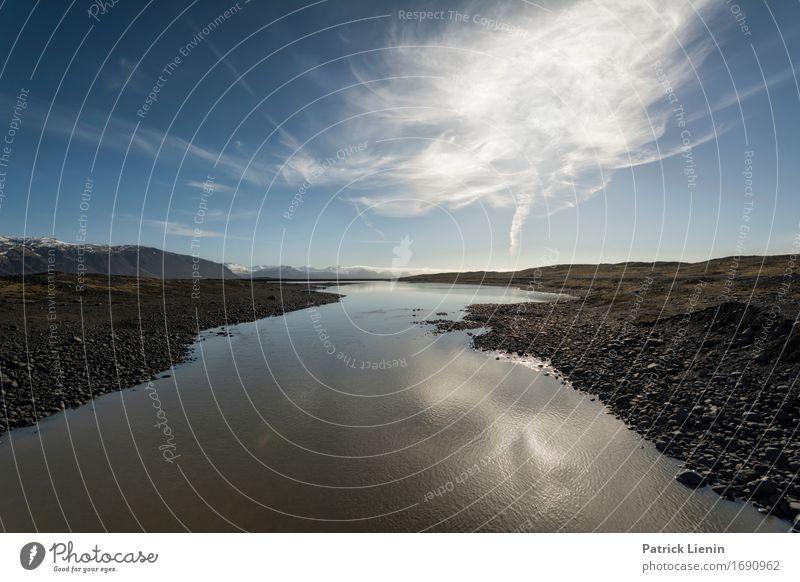 Silent Country schön Leben Ferien & Urlaub & Reisen Abenteuer Insel Umwelt Natur Landschaft Urelemente Erde Wasser Himmel Wolken Klima Wetter Hügel