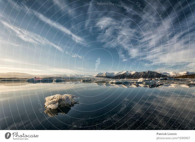 Glacier Bay schön Leben Ferien & Urlaub & Reisen Abenteuer Sonne Insel Winter Schnee Berge u. Gebirge Umwelt Natur Landschaft Erde Himmel Wolken Wetter Eis