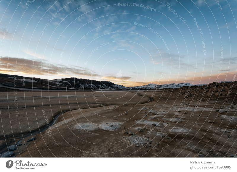 Krafla, Island Himmel Natur Ferien & Urlaub & Reisen blau Sonne Landschaft Wolken Winter Berge u. Gebirge Umwelt Leben Erde Wetter Insel Klima