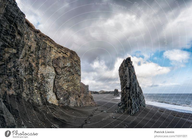 Meerfelsen Himmel Natur Ferien & Urlaub & Reisen schön Landschaft Erholung Wolken ruhig Strand Umwelt Leben Küste Erde Felsen Wetter