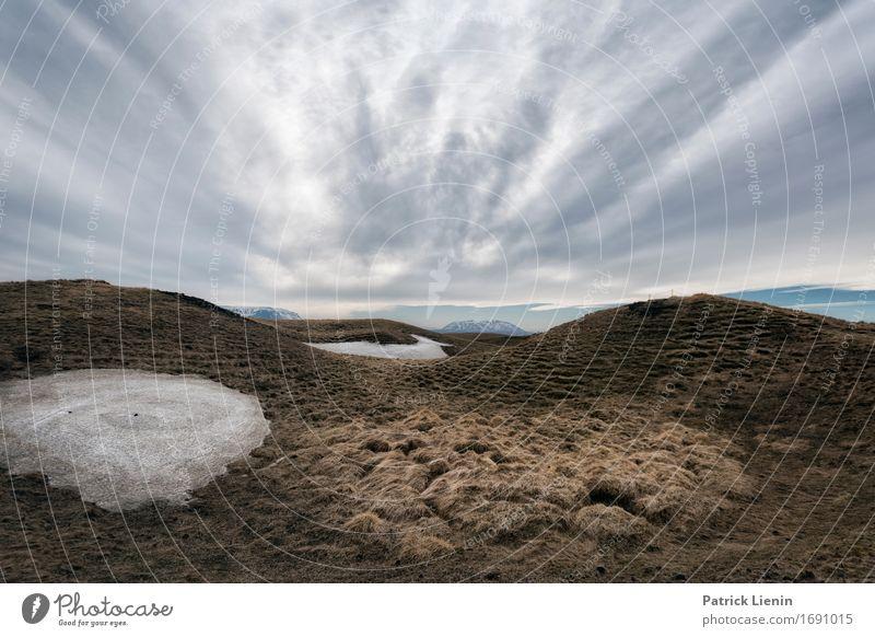 Winternachmittag auf Island Leben Ferien & Urlaub & Reisen Abenteuer Sonne Insel Schnee Berge u. Gebirge Umwelt Natur Landschaft Urelemente Erde Himmel