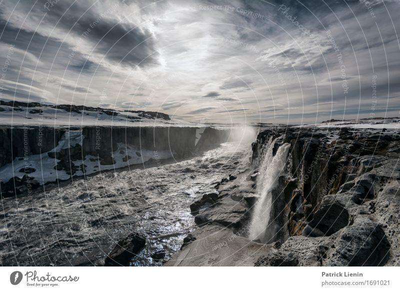Detifoss Natur Ferien & Urlaub & Reisen schön Wasser Landschaft Erholung ruhig Umwelt Leben natürlich Erde Horizont Wetter Zufriedenheit Energie Insel