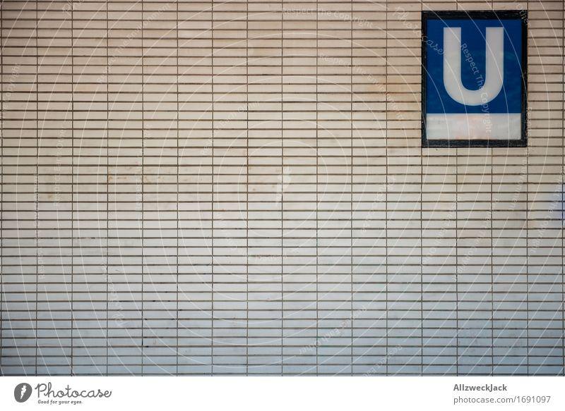 U Berlin Hauptstadt Verkehr Verkehrsmittel Öffentlicher Personennahverkehr U-Bahn Schriftzeichen Schilder & Markierungen Stadt Güterverkehr & Logistik