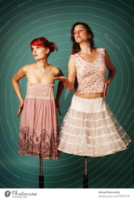 Mannequins Mensch Frau Jugendliche schön Erwachsene Stil elegant Design ästhetisch Kleid reich Rock Reichtum brünett Schminke Skulptur