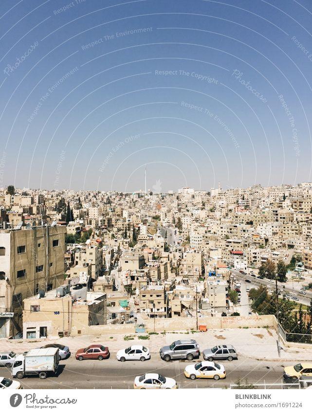 Amman Ferien & Urlaub & Reisen Stadt blau Haus Straße Architektur Stein oben Fassade Tourismus PKW ästhetisch Abenteuer Unendlichkeit entdecken Skyline
