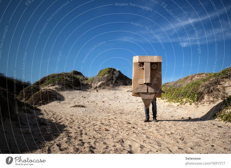 Hi. Mensch Mann Erwachsene Gesicht Auge Nase Bart 1 Umwelt Natur Himmel Wolken Horizont Sonne Sonnenlicht Sommer Küste Strand beobachten träumen Farbfoto
