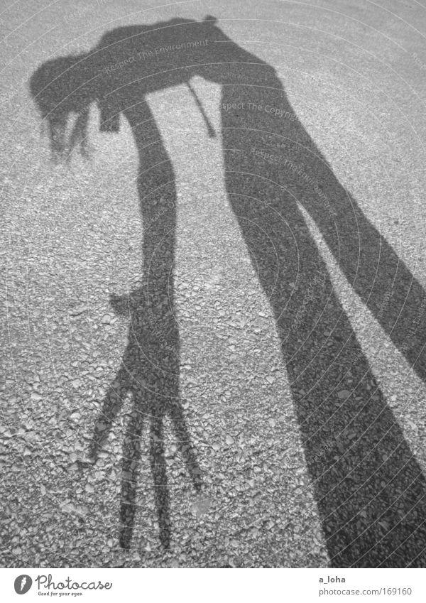 rumpelstilzchen Freude Sommer Mensch Hand 1 Tanzen Sonne Beton Bewegung gehen dünn einzigartig lustig grau schwarz Leben standhaft anstrengen Stress Einsamkeit