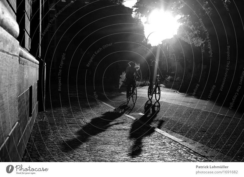 Stadtradler Lifestyle Leben Erholung Freizeit & Hobby Sommer Sonne Fahrradfahren Feierabend Mensch Junge Frau Jugendliche Junger Mann Erwachsene Paar Körper 2