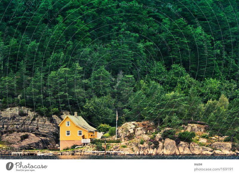 Hier wohnt Peter Fox Natur grün Ferien & Urlaub & Reisen Einsamkeit Landschaft Haus Wald gelb Umwelt Berge u. Gebirge Küste Wohnung wandern Häusliches Leben
