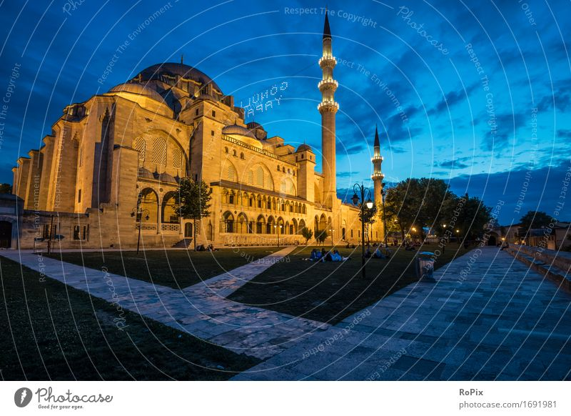 Sülemaniye Camii Ferien & Urlaub & Reisen Tourismus Sightseeing Städtereise Kunst Architektur Himmel Park Istanbul Türkei Asien Naher und Mittlerer Osten Stadt