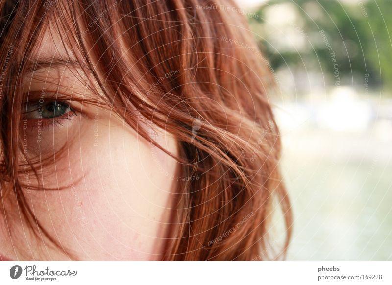 sommer:gefühl Sommer Gesicht Auge Freiheit Haare & Frisuren hell Wind Fluss Schönes Wetter Locken