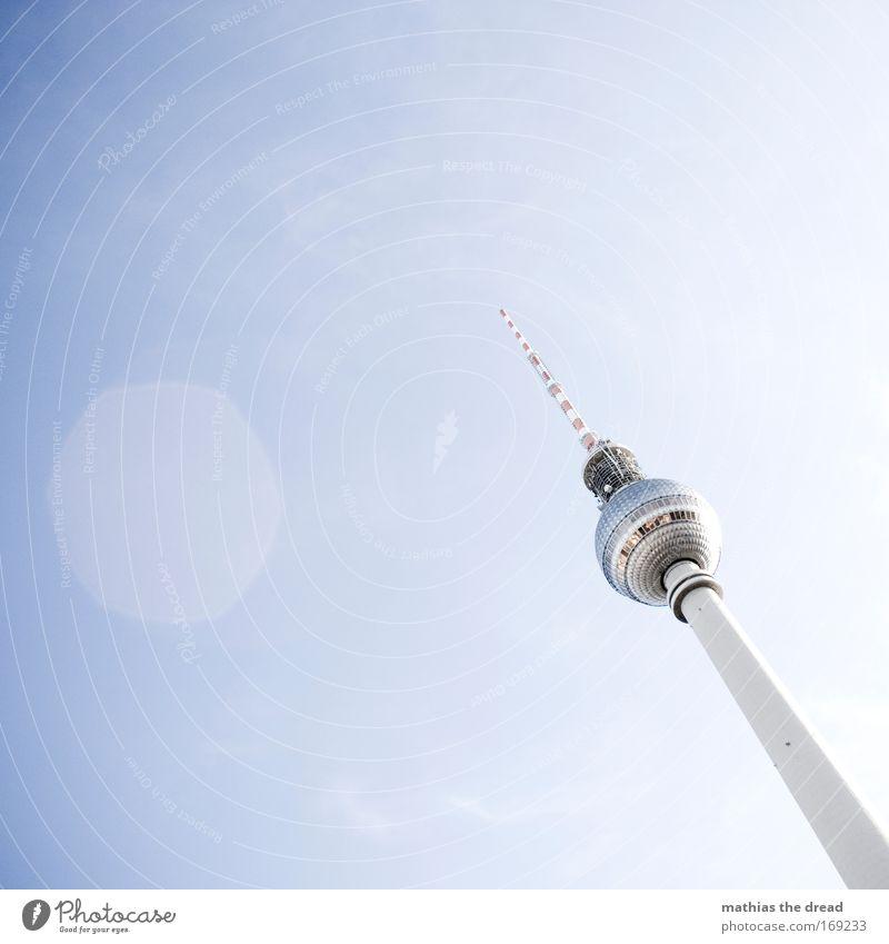 LIEBLINGSMOTIV blau Berlin Deutschland hoch ästhetisch außergewöhnlich Europa Turm Spitze Kugel Skyline Wahrzeichen Stadtzentrum Sehenswürdigkeit Hauptstadt
