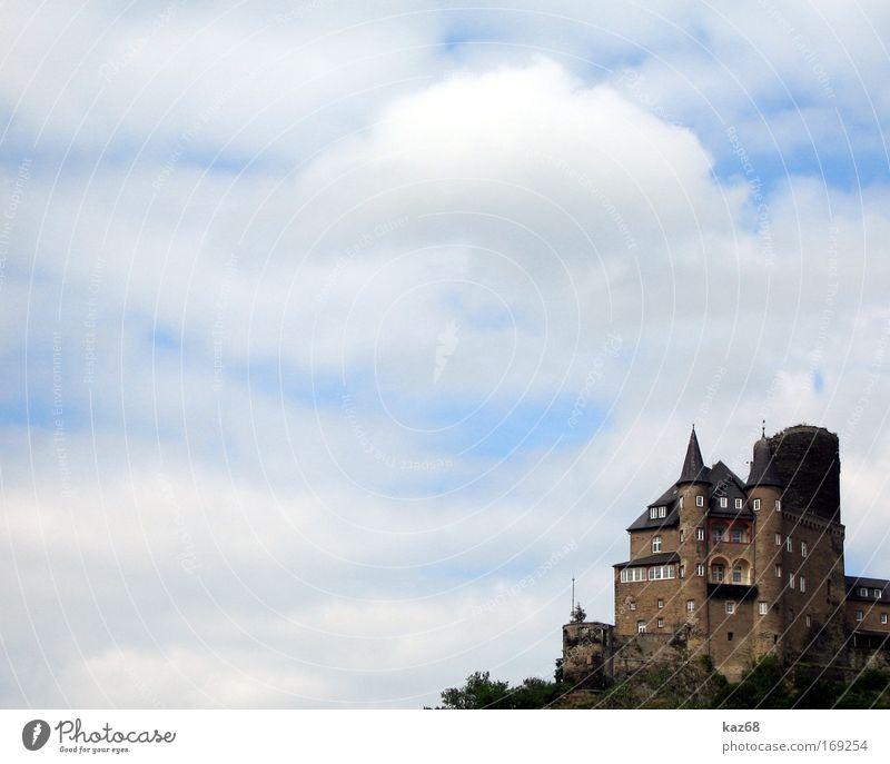 Burg Katz Wehrburg katz Wolken Hexe Rhein Festung Ferien & Urlaub & Reisen Himmel Gemäuer Aussichtsturm Zoll bezahlen Eingang historisch Märchen Historismus