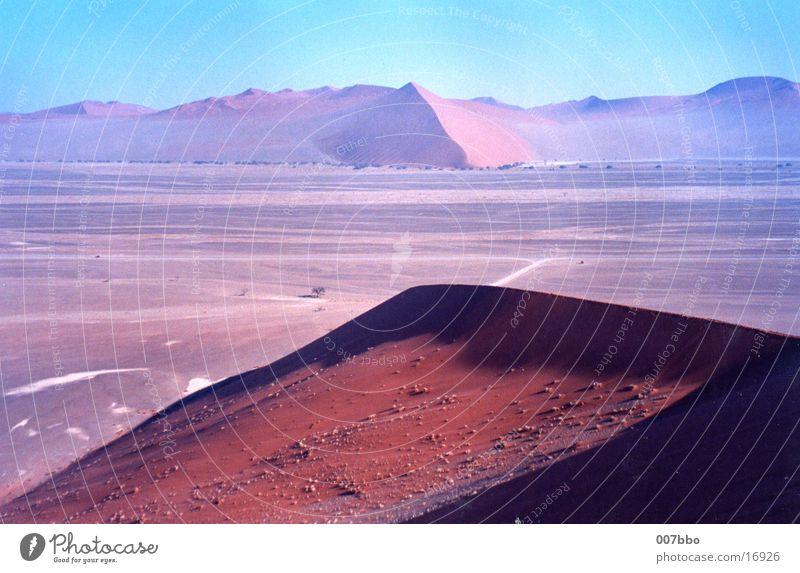 Wüstenlandschaft Afrika Namibia Physik Stranddüne Wärme Sand