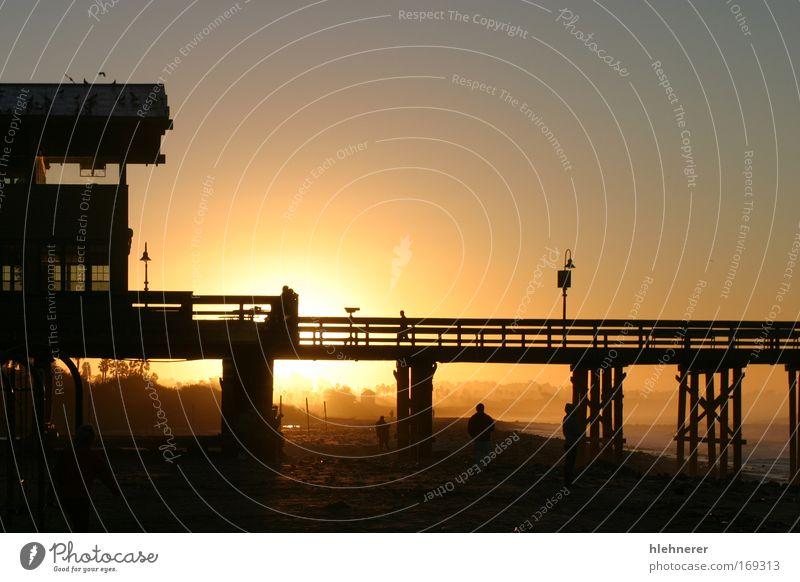 Himmel Natur Wasser schön Sonne Ferien & Urlaub & Reisen Meer Strand Erholung Holz Sand Küste Tourismus Urelemente USA Sonnenaufgang