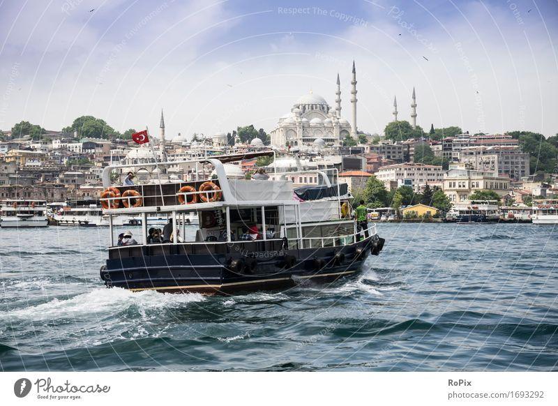 istanbul ferry Ferien & Urlaub & Reisen Stadt Wasser Landschaft Umwelt Architektur Küste Stimmung Tourismus Verkehr Wellen Ausflug Schönes Wetter historisch