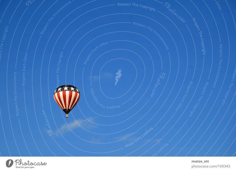 yes we can blau Ferien & Urlaub & Reisen fliegen hoch Luftverkehr Ballone Verkehrsmittel Fluggerät