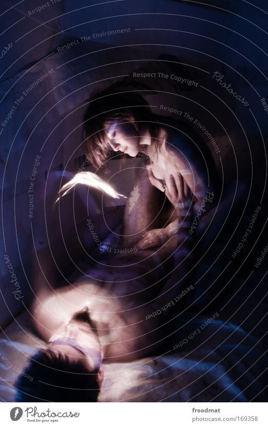 photometrische doppelsterne Mensch Akt Jugendliche blau Liebe Erotik feminin Sex Paar Zusammensein Kunst Körper Haut Erwachsene maskulin ästhetisch