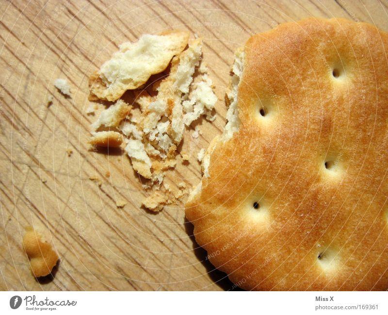 that´s the way the cookie crumbles alt Holz Lebensmittel Ernährung süß trocken Getreide Mittagessen hart Backwaren Schneidebrett Frustration Keks Teigwaren
