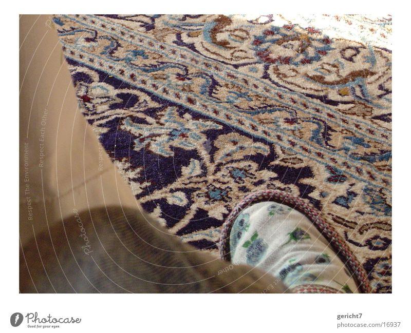teppich Teppich Muster Blume Häusliches Leben blau