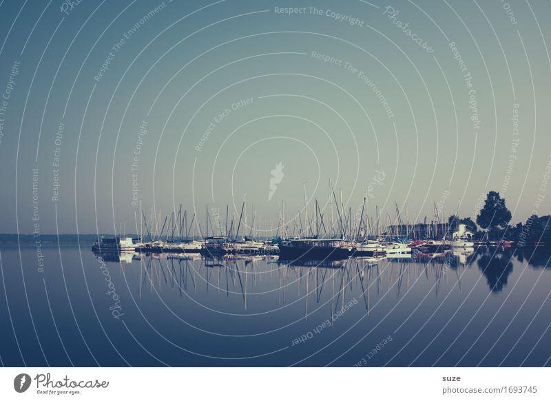 In See stechen Lifestyle ruhig Freizeit & Hobby Ferien & Urlaub & Reisen Ausflug Sommer Sommerurlaub Umwelt Landschaft Wasser Himmel Seeufer Schifffahrt Jacht