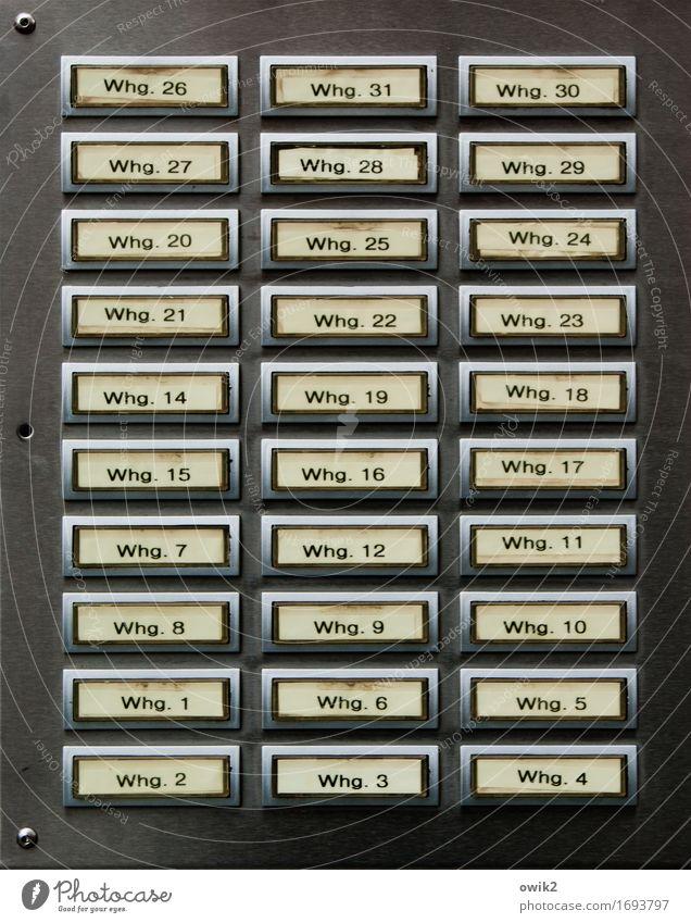 Nette Nachbarn Namensschild Klingel Technik & Technologie Metall Kunststoff Schriftzeichen Ziffern & Zahlen Schilder & Markierungen eckig einfach Zusammensein