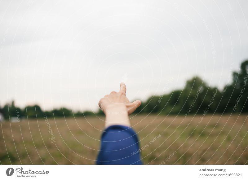 #318 / Zeigen Hand Ferne Horizont frei Arme Beginn Zukunft Finger planen Neugier Hoffnung Ziel entdecken zeigen Vorfreude Interesse