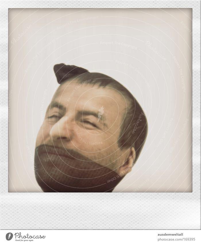 Bababanküberfall Farbfoto Innenaufnahme Nahaufnahme Polaroid Schwache Tiefenschärfe Porträt Halbprofil Wegsehen geschlossene Augen Mensch maskulin Mann
