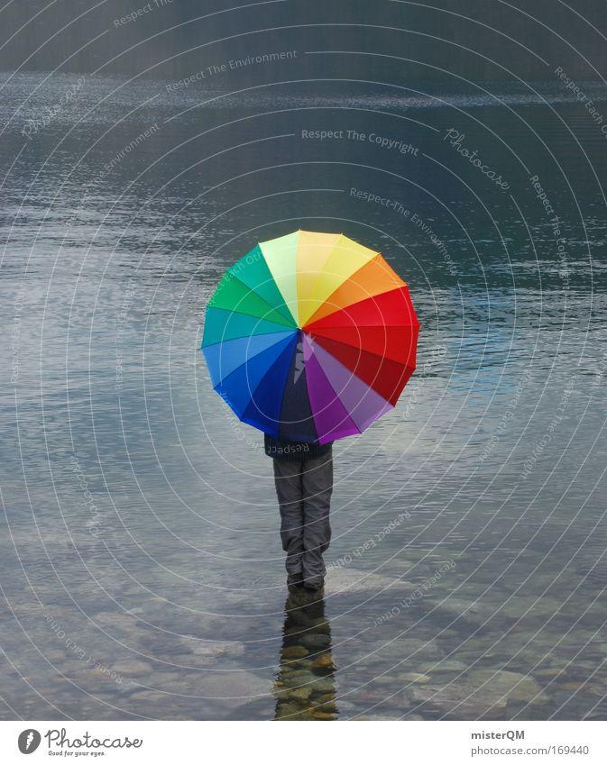 Illusion World. Wasser Einsamkeit ruhig Farbe Ferne Freiheit Kunst Wetter Horizont Zufriedenheit Freizeit & Hobby Design Abenteuer ästhetisch Tourismus planen