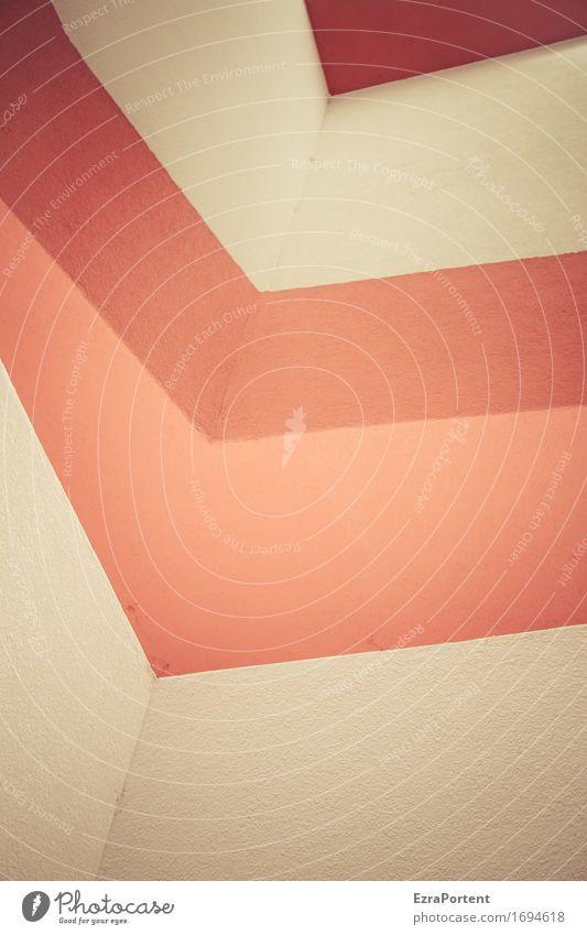 Ecke Farbe rot Haus Architektur Wand Gebäude Mauer Stein Linie Fassade Design ästhetisch Beton Grafik u. Illustration Bauwerk