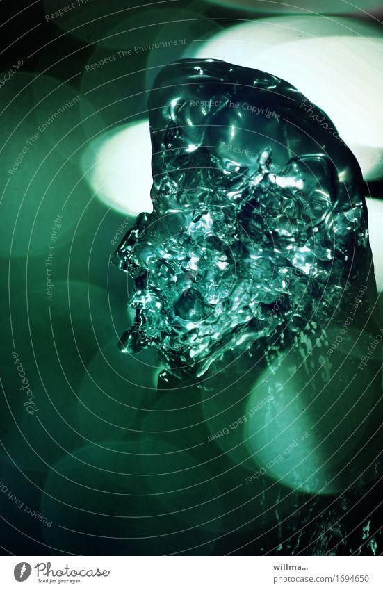 friedhelm von tlön Wasser grün Phantasiegebilde Springbrunnen Unschärfe Surrealismus Irritation Traumwelt wandelbar falsch Phantom Farbfoto Außenaufnahme
