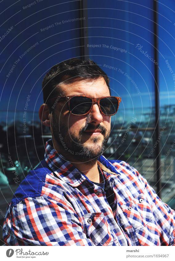 auf über 3000 Metern Mensch maskulin Junger Mann Jugendliche Erwachsene Kopf 1 30-45 Jahre Gefühle Stimmung Bart Coolness Berge u. Gebirge Spiegel Sonnenbrille