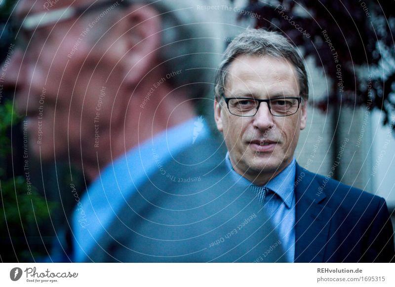 Werner Business Karriere Erfolg Mensch maskulin Mann Erwachsene Gesicht 2 45-60 Jahre Garten Hemd Anzug Krawatte Brille alt blau Verantwortung Ehrlichkeit