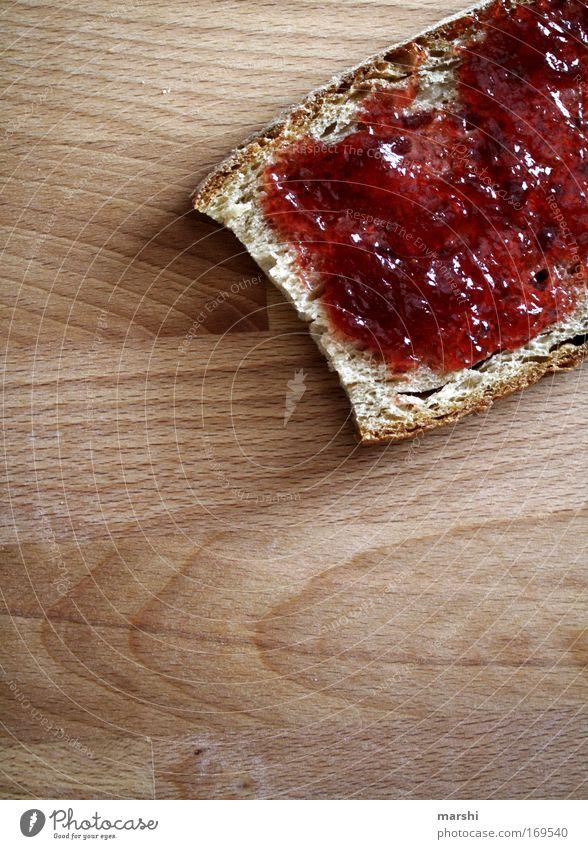 Frühstück gefällig?! Farbfoto Morgen Abend Lebensmittel Brot Marmelade Abendessen genießen lecker süß Stimmung Appetit & Hunger Durst Marmeladenbrot bestreichen
