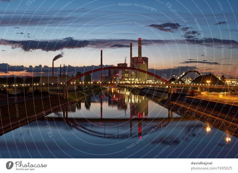 Kohlekraftwerk Industrie Energiewirtschaft Unternehmen Technik & Technologie Landschaft Wasser Himmel Klima Klimawandel Flussufer Rhein Mannheim Deutschland