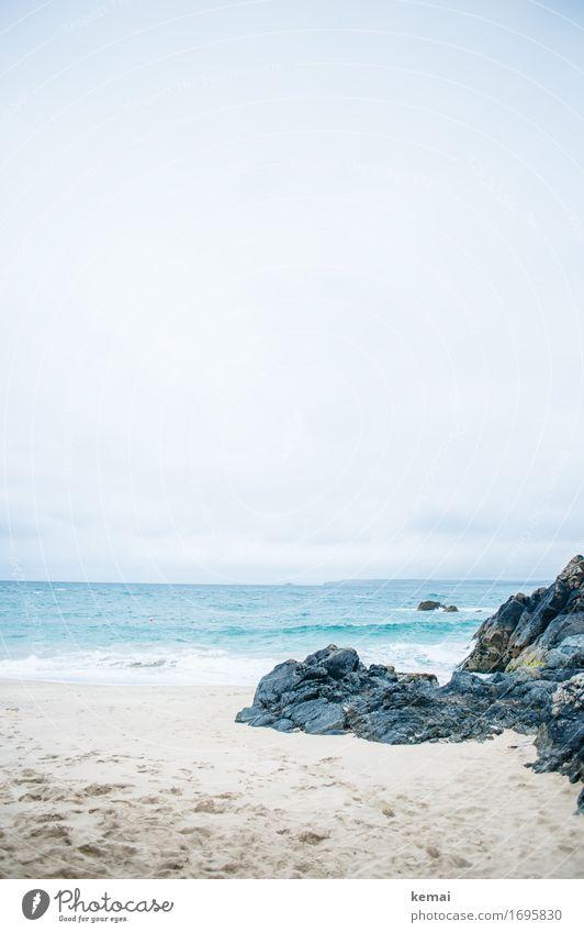 Am Meer Himmel Natur Ferien & Urlaub & Reisen blau Sommer Wasser Landschaft Erholung Wolken ruhig Ferne Strand Leben Küste Tourismus