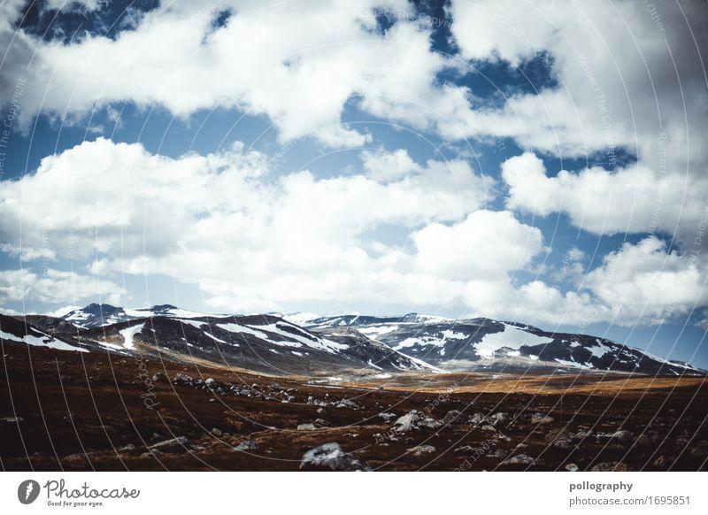 my way to norway VII Himmel Natur Ferien & Urlaub & Reisen Pflanze Sommer Landschaft Wolken Ferne Berge u. Gebirge Herbst Schnee Freiheit Tourismus Erde wandern