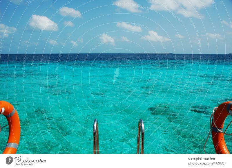 einladung Natur Wasser schön Himmel Sonne Meer Sommer Ferien & Urlaub & Reisen ruhig Einsamkeit Gefühle Glück träumen Zufriedenheit Stimmung Küste