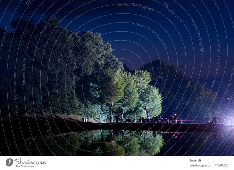 nAchtschwärmer Mensch Natur Wasser schön alt Himmel Baum grün blau ruhig Wald Erholung Frühling Garten See Park