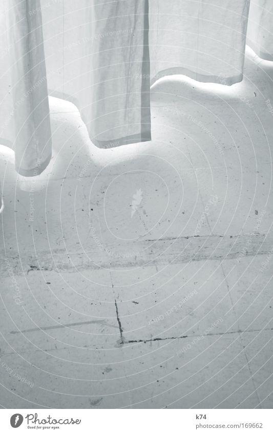Vorhang weiß Fenster hell Bodenbelag Stoff Vorhang