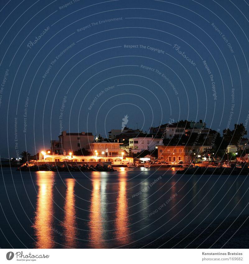 silent nighttime Meer Strand Ferien & Urlaub & Reisen ruhig Haus Erholung Zufriedenheit Stimmung Europa Tourismus Romantik Nachthimmel Fernweh Griechenland