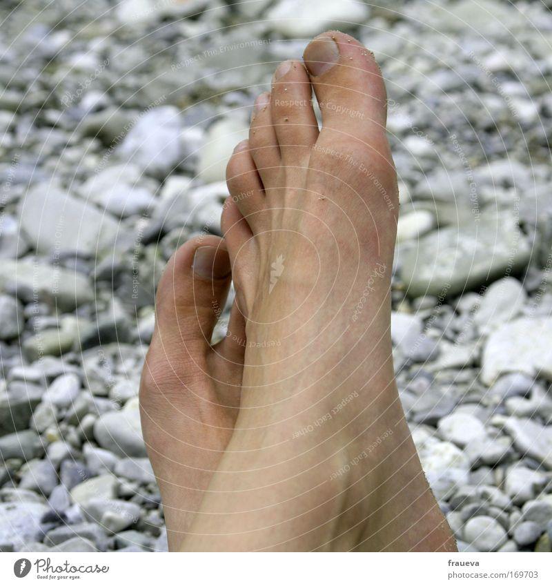 chillen Mensch Natur Ferien & Urlaub & Reisen Sonne Sommer Meer Strand Erholung grau Fuß Haut wandern Ausflug Tourismus Fluss genießen
