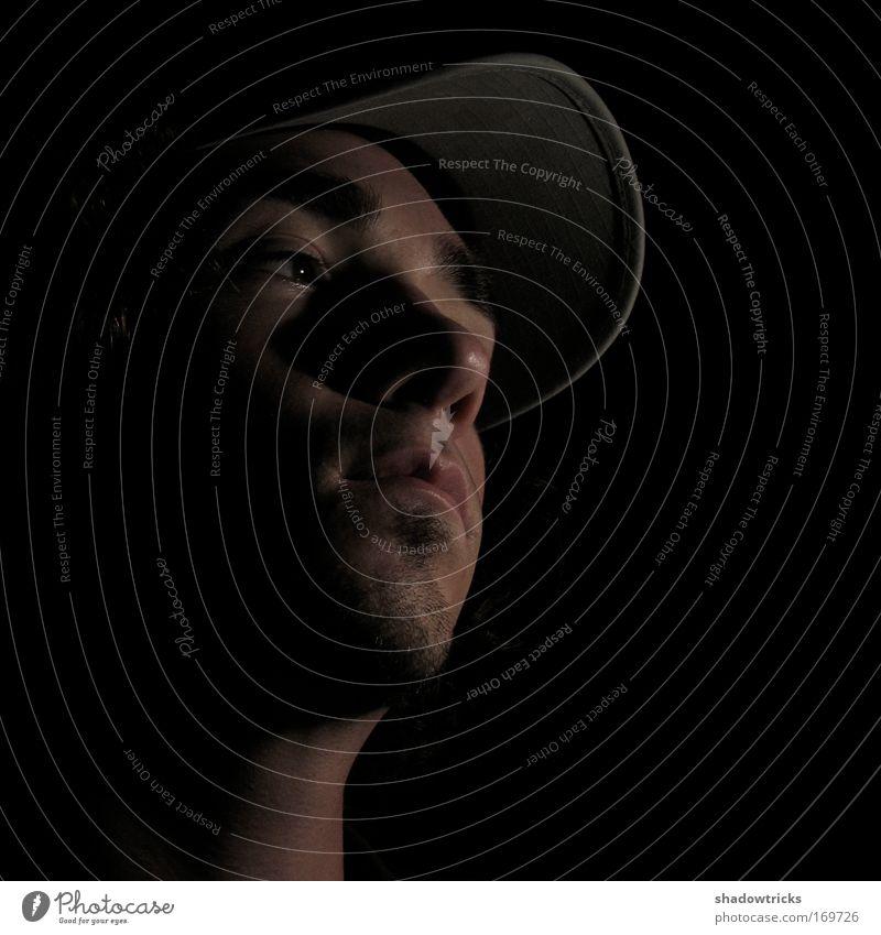 Selbstportrait (2008) Mensch Mann Jugendliche Gesicht ruhig Einsamkeit Gefühle Traurigkeit Stimmung Angst Erwachsene maskulin Coolness Verzweiflung Sorge