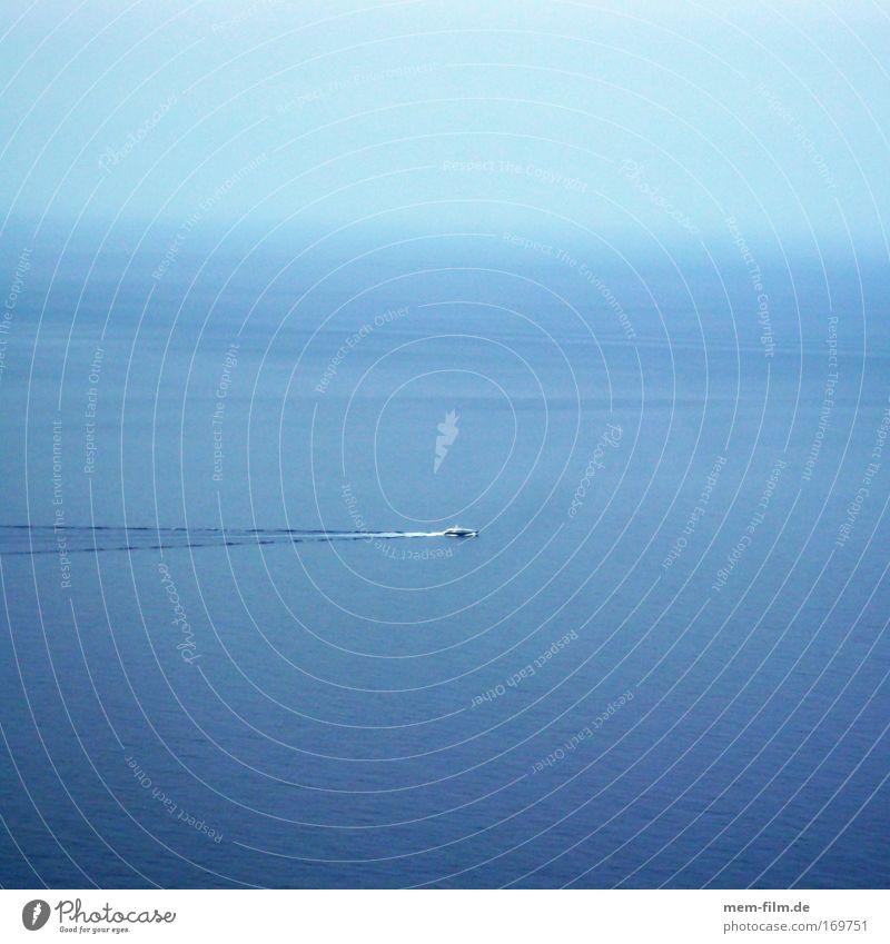 da mittelmeer! Mittelmeer Meer Wasserfahrzeug Bootsfahrt Mallorca Jacht Navigation Küste blau Himmel Totale inselhopping Ferien & Urlaub & Reisen Ausflug