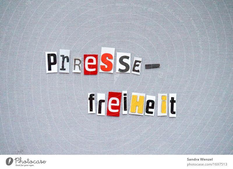 Pressefreiheit! Freiheit lesen Buchstaben Internet Medien Wort Zeitung Fernsehen Wissen Politik & Staat Radio Printmedien lügen Zeitschrift Überwachung