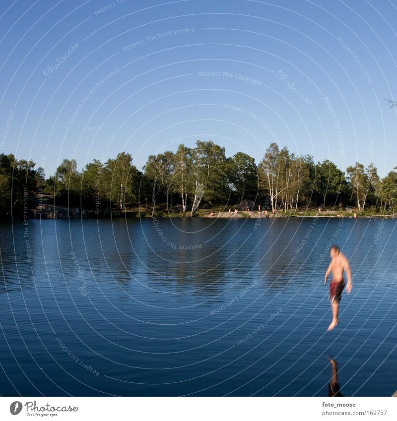 Natur blau Wasser schön Sommer Freude Umwelt Landschaft Freiheit See Freizeit & Hobby nass Schwimmen & Baden Lifestyle Urelemente Wellness
