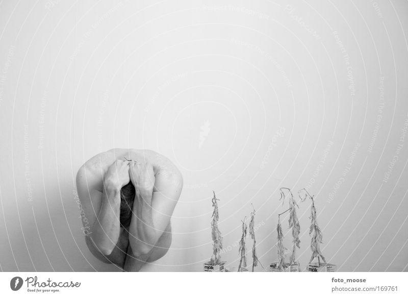 Mensch Mann Einsamkeit Erwachsene Tod Gefühle Traurigkeit Stimmung Kunst Angst Akt Trauer 18-30 Jahre geheimnisvoll Stress Rauschmittel