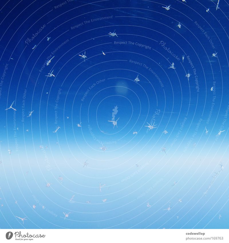 fées de glace abstrakt Himmel Eis Frost Fenster kalt blau Horizont Stratosphäre